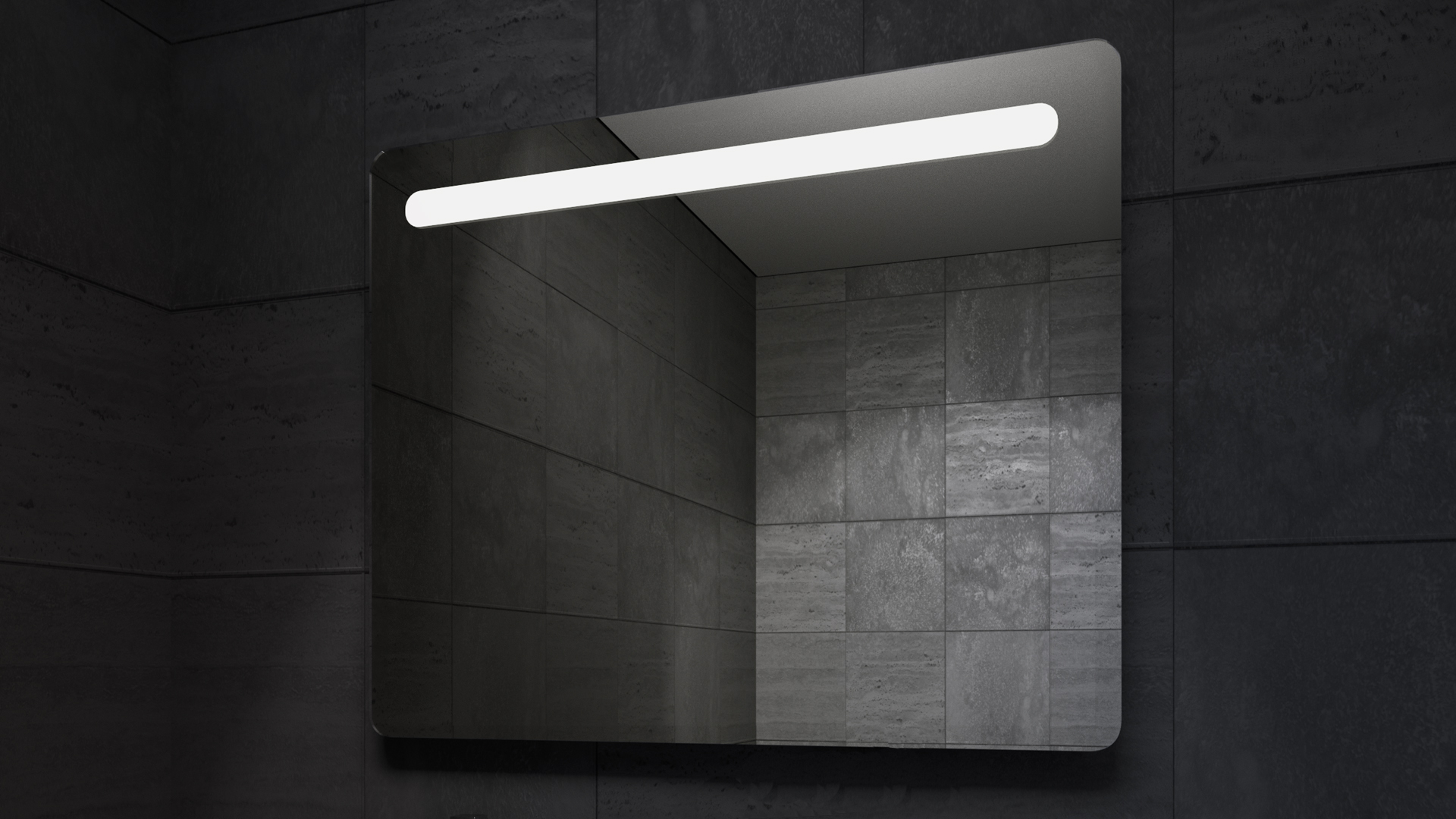 Calipso LED Mirror in Darkness