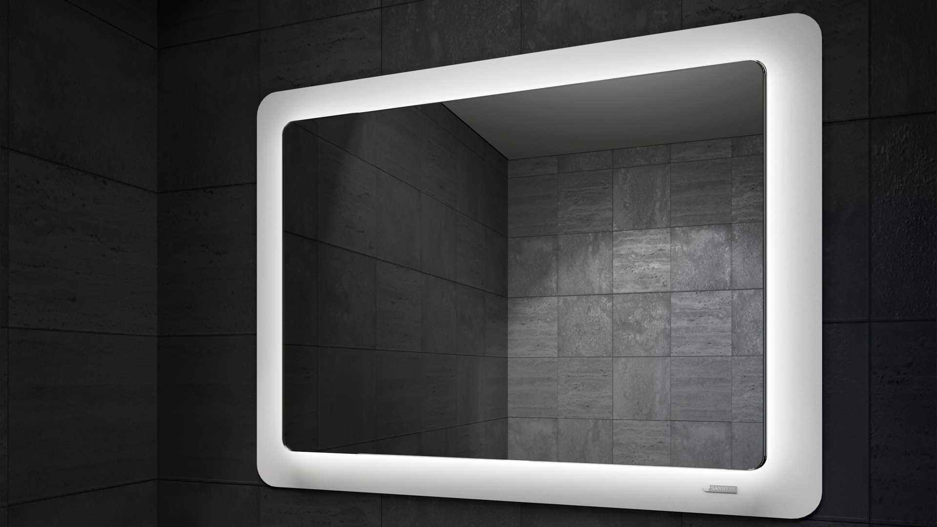 Cosmo LED Mirror in Darkness