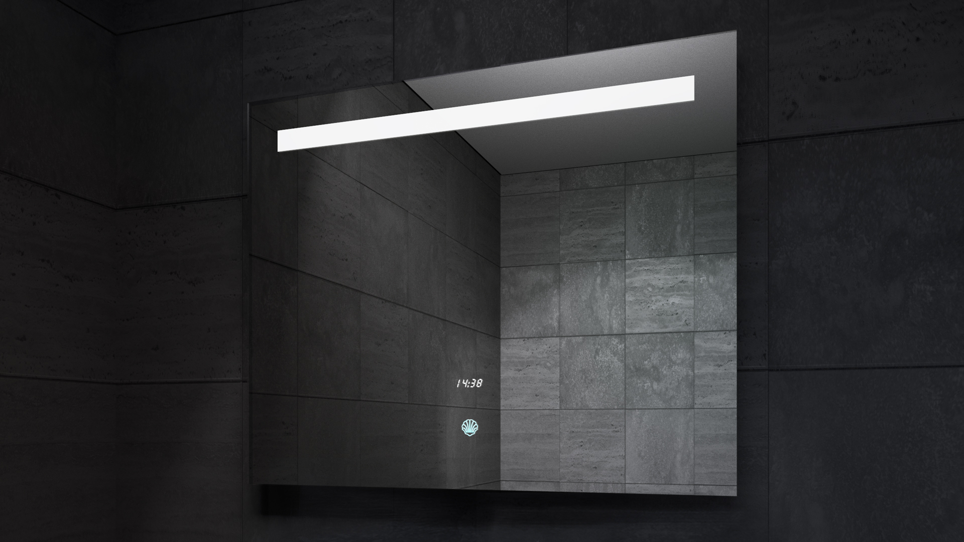 Deluxe LED Mirror in Darkness