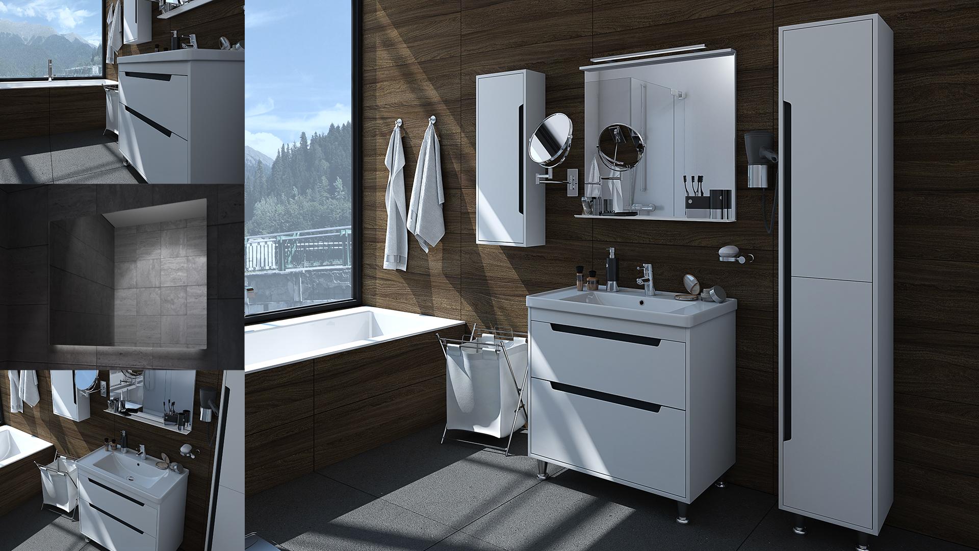 Greta Flooring Cabinet Set