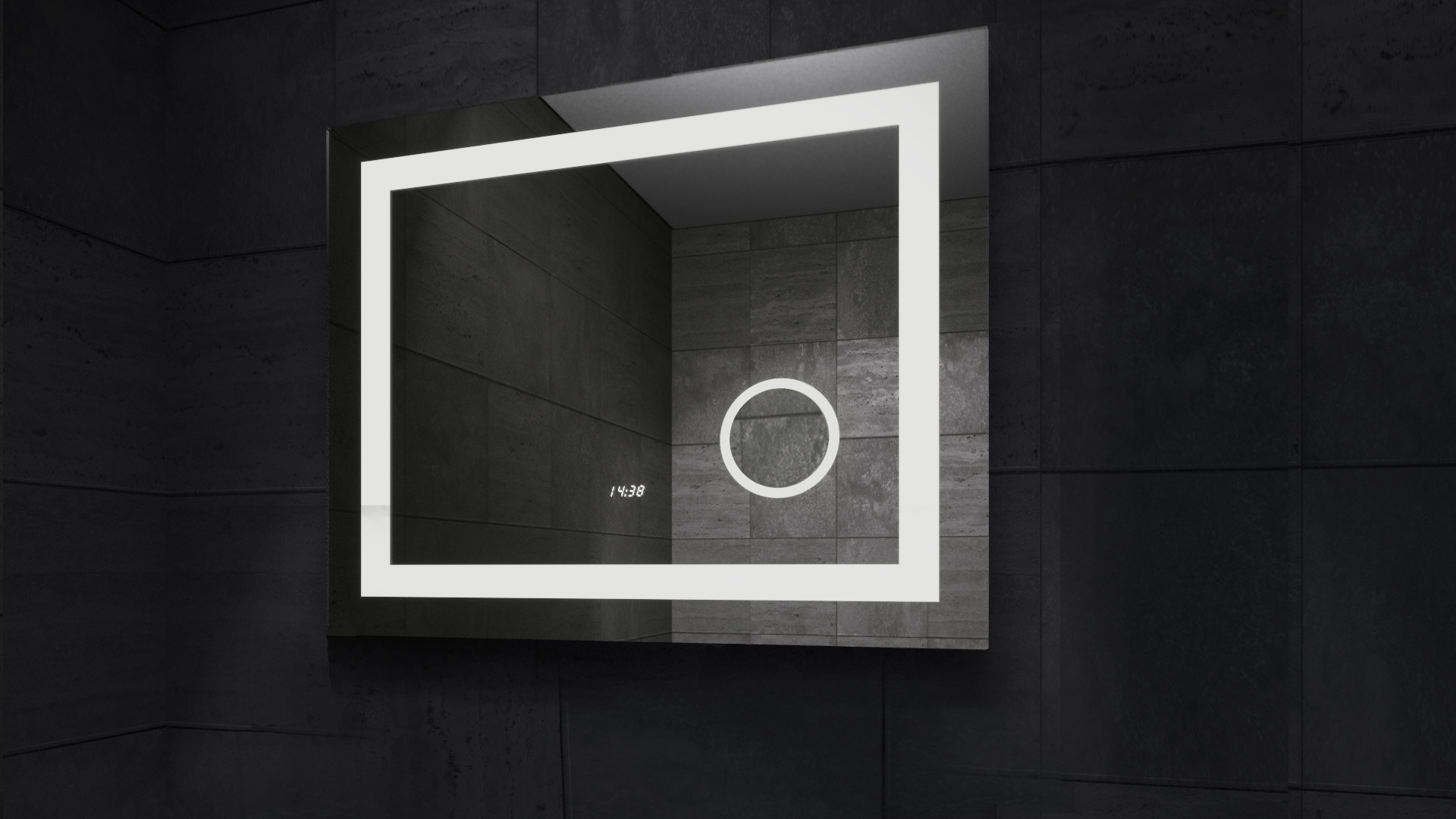 Mega LED Mirror in Darkness