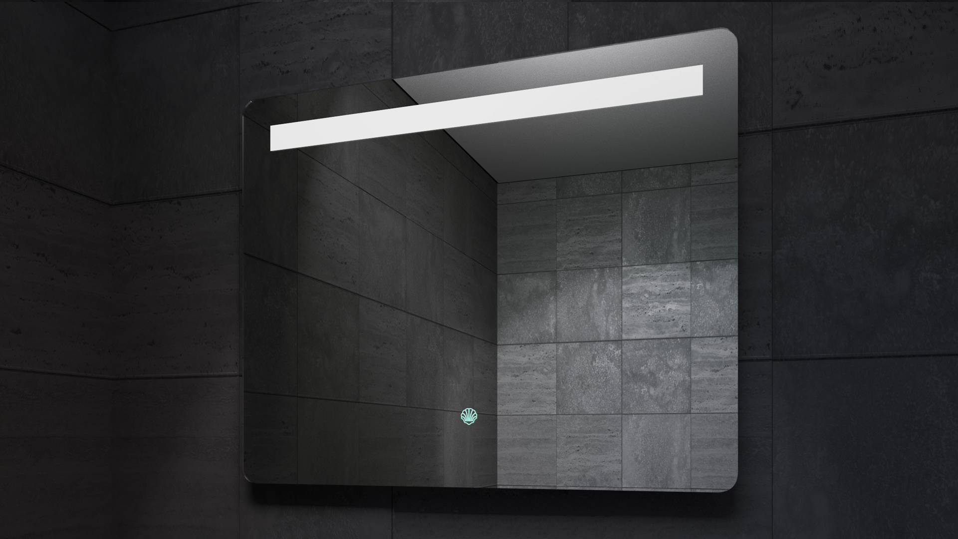 Rada LED Mirror in Darkness