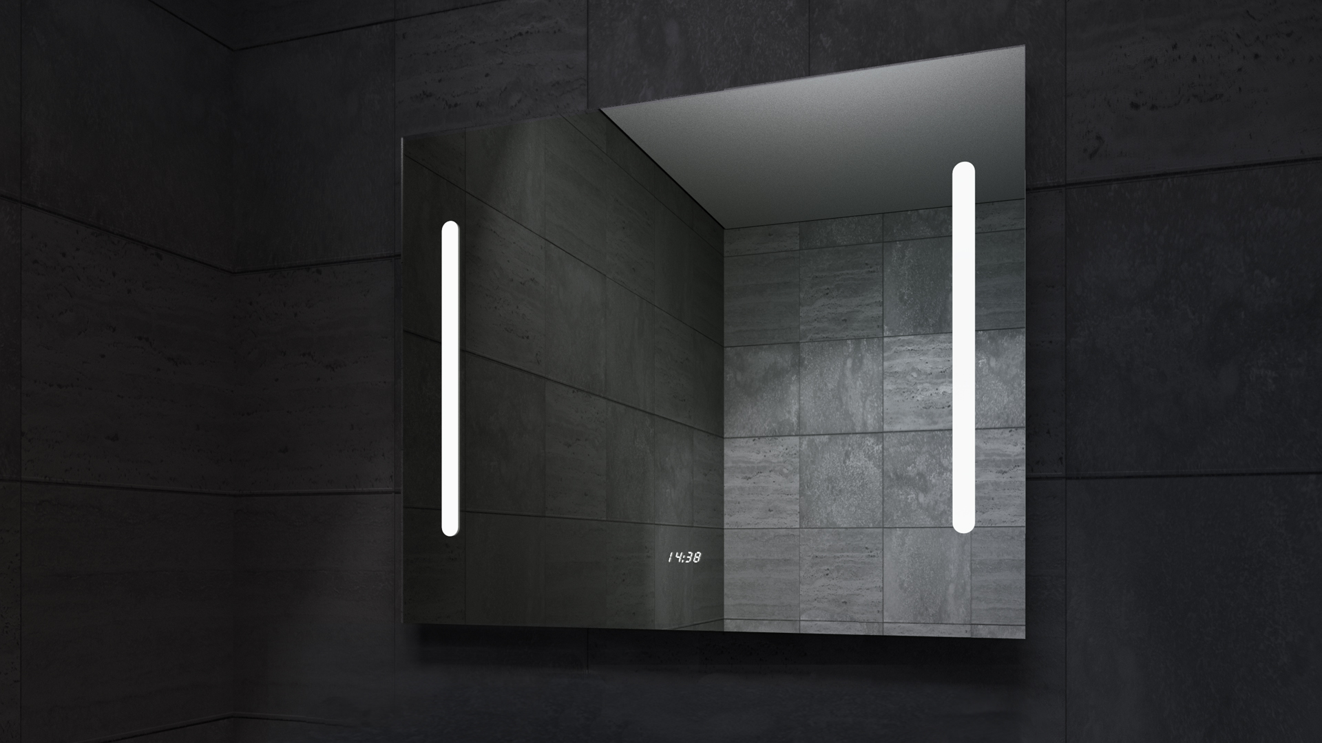 Stella LED Mirror in Darkness
