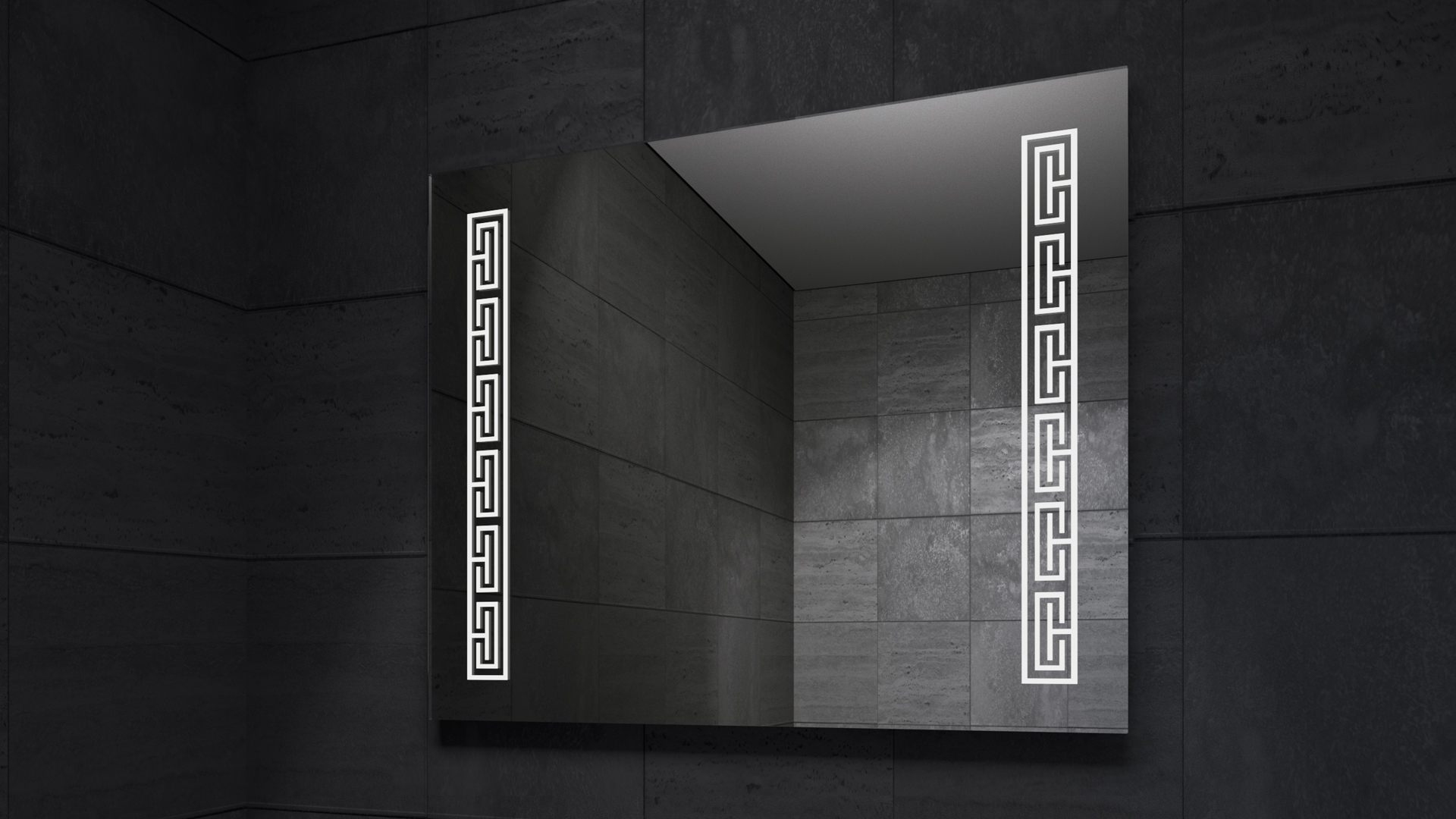 Versa LED Mirror in Darkness